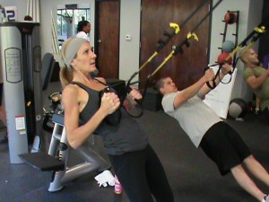L. Barrett on the TRX